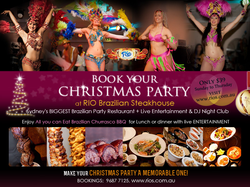 Christmas Party Packages Function Menus
